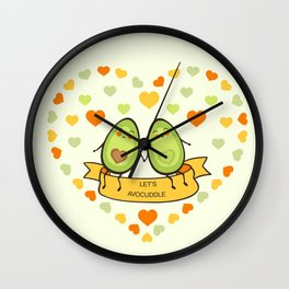 Let's avocuddle! Wall Clock