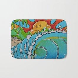 Sunrise Barrel Print Bath Mat