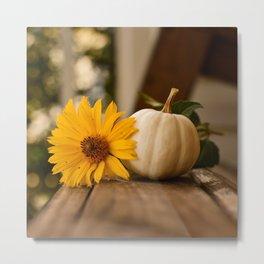 Autumnal Table Metal Print