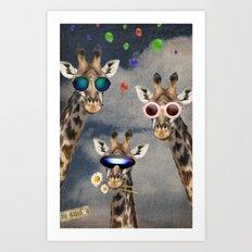 Animal Collection -- Let's Take  A Selfie Art Print
