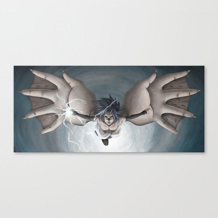 sasuke uchiha curse mark release state canvas print by singsei