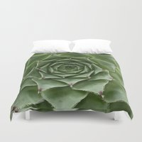 succulent Duvet Covers featuring Succulent by Bunyip Designs