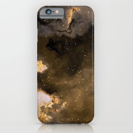 100 Starry Nebulas in Space Black and Gold 035 (Square) iPhone Case
