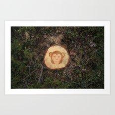 Deforestation Faces - Monkey Art Print