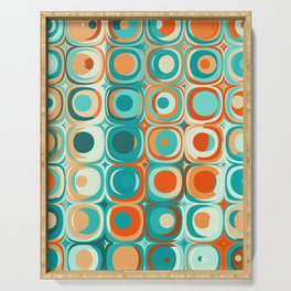 Orange and Turquoise Dots Serving Tray