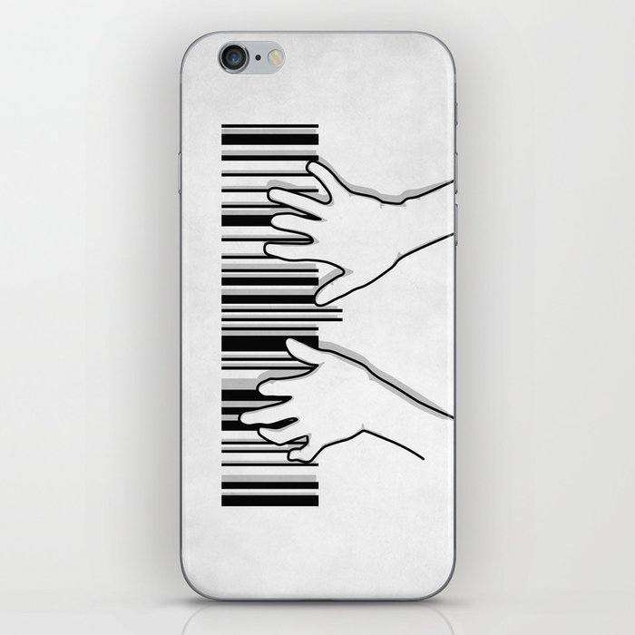 Barcode pianist iPhone Skin