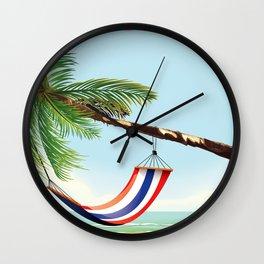 puerto rico hammock beach poster Wall Clock