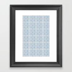 Blue Tile Pattern No. 2 Framed Art Print