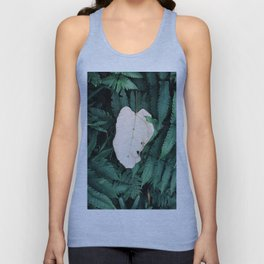 Nature Walk 001 - White Leaf Unisex Tank Top