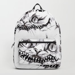 Cheshire Smile Inktober Drawing Backpack