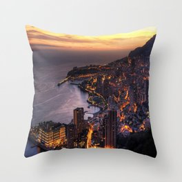 Sunset Loving wiTH town Throw Pillow