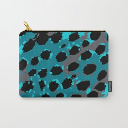Cheetah Spots in Blues and Gray Grey Carry-All Pouch