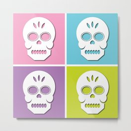 Sugar Skulls. Metal Print