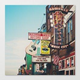 Lower Broadway, Nashville print  Canvas Print