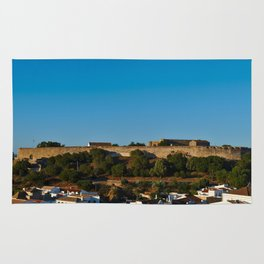 Castle of Castro Marim from the hill Rug