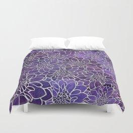 Dahlia Flower Pattern 3 Duvet Cover