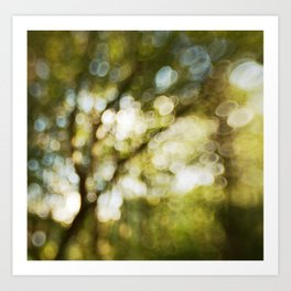 Abstract bokeh tree Art Print
