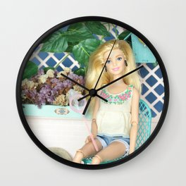* It is a good day to take care and water the plants and flowers * Wall Clock