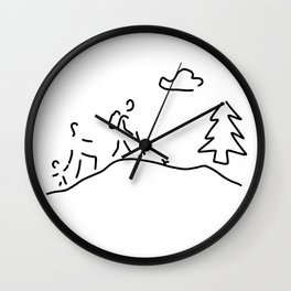 walk walking wandering Wall Clock