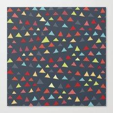 mod multi colored triangles Canvas Print