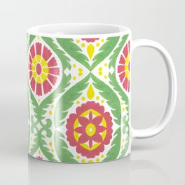 Hand painted red green yellow watercolor motif Coffee Mug