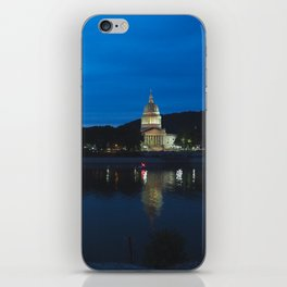 Charleston West Virginia Capitol at Blue Hour iPhone Skin