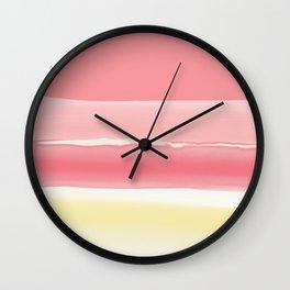 Watercolor summer afternoon Wall Clock