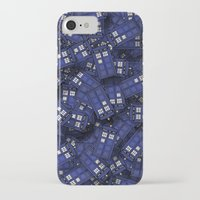 fandom iPhone & iPod Cases featuring Tardis by 10813 Apparel
