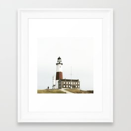 Lighthouse, Montauk Point Framed Art Print