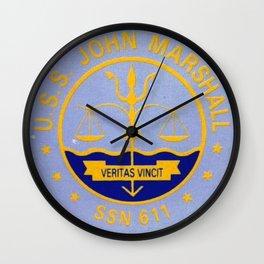 USS JOHN MARSHALL (SSN-611) PATCH Wall Clock