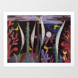 Landscape With Yellow Birds Paul Klee Art Print