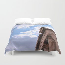 Sky above Parthenon Duvet Cover