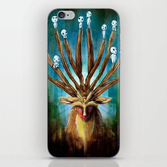 Princess Mononoke The Deer God Shishigami Tra Digital Painting. iPhone Skin
