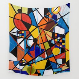 Lines and Circles Wall Tapestry