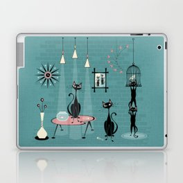 Mid Century Kitty Mischief - ©studioxtine Laptop & iPad Skin