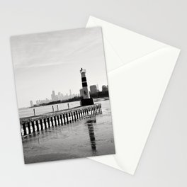 Chicago Skyline from Montrose Harbor Stationery Cards
