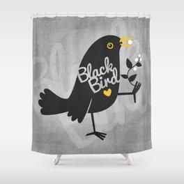 BlackBird Shower Curtain