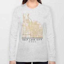 SALT LAKE CITY UTAH CITY STREET MAP ART Long Sleeve T-shirt