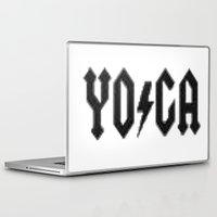 yoga Laptop & iPad Skins featuring Yoga by InstantKarma