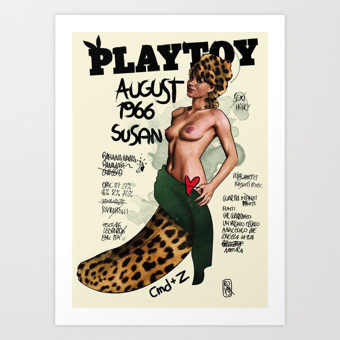 PLAYTOY - SUSAN 1966 - LIMITED ZEROSTILE FACTORY Art Print