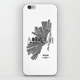 Miami Map iPhone Skin
