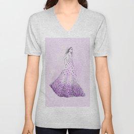 Floral Dress no 4 Unisex V-Neck