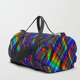 RGB Plaid Duffle Bag