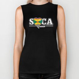 Soca Music Queen gift : St Lucia Carnival Wining Dancing Gift, Grinding Dance Caribbean Culture Biker Tank