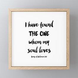 Solomon Quote Framed Mini Art Print
