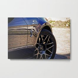 2012 Shelby GT-500 wheel and badge Metal Print