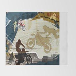 Motocross Throw Blanket