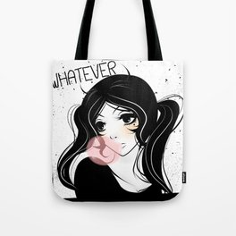 Apathetic mood anime girl Tote Bag