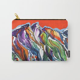 Freezing Hot Colorful Mountain Art Carry-All Pouch