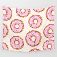 donut Wall Tapestries featuring Donut by Ceren Aksu Dikenci